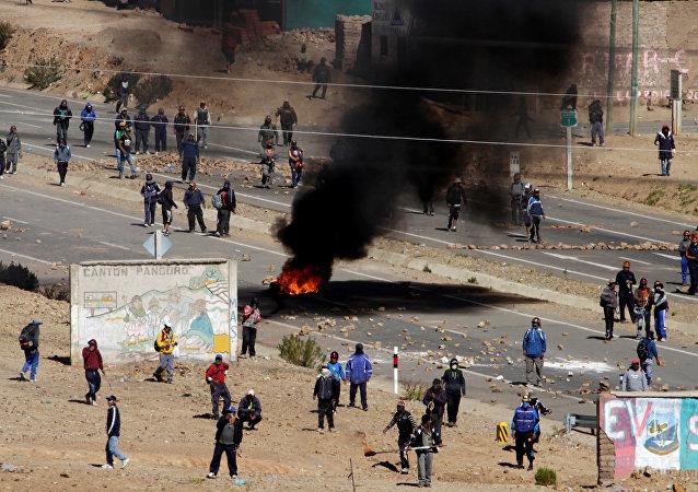 manifestation de mineurs, à Panduro
