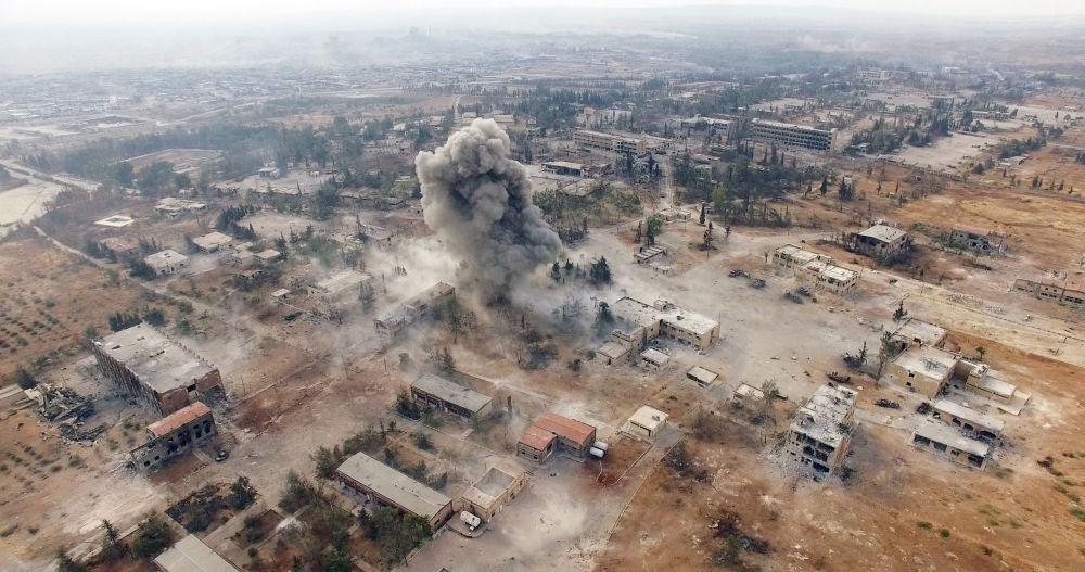 Des frappes aériennes sur les terroristes dans le sud-est d'Alep.