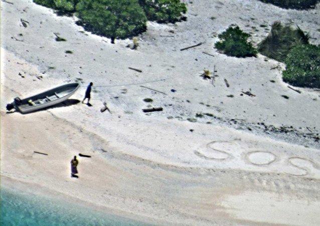 Deux hommes trouvés sur une île déserte