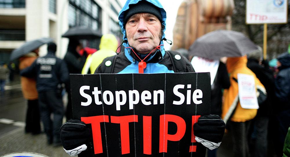Une manifestation contre le TTIP en Allemagne