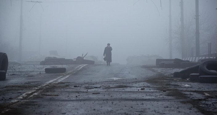 Destructions dans l'est de l'Ukraine, à Donetsk