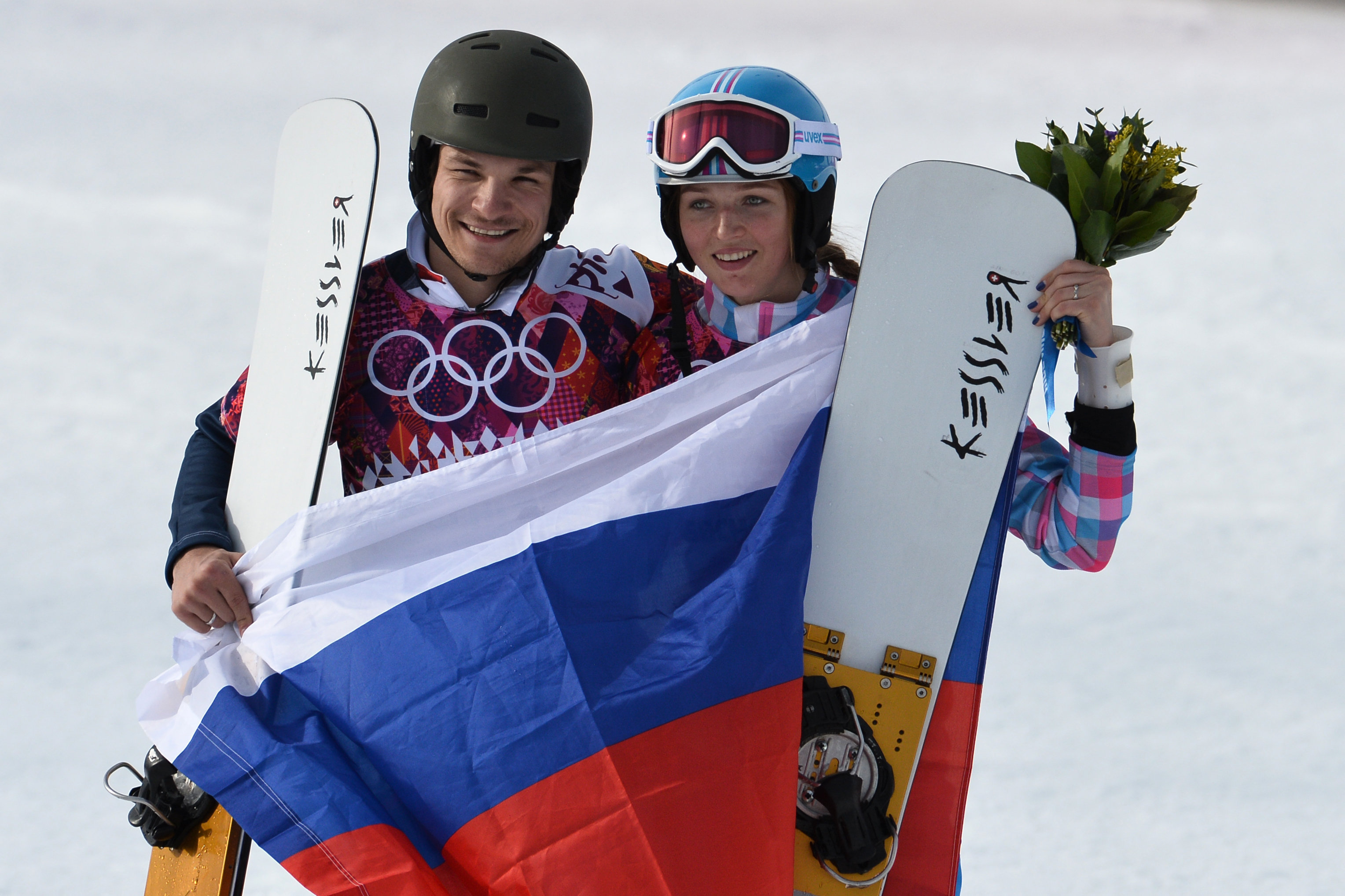 Vic Wild et son épouse Alena Zavarzina