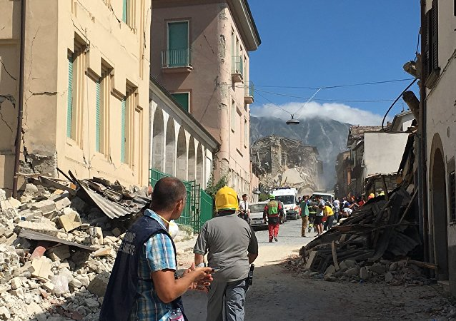 Bâtiments détruits par le séisme en Amatrice