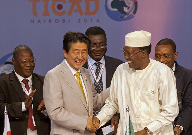 Le premier ministre japonais Shinzo Abe à Nairobi