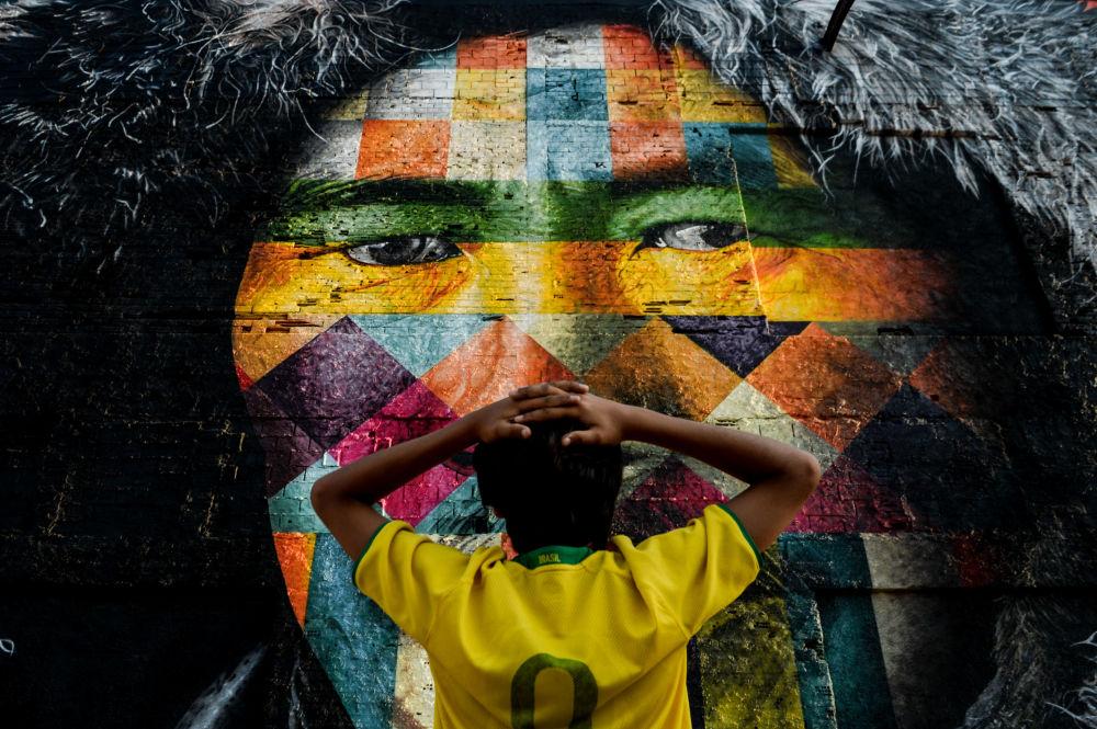 Le graffiti du peintre brésilien Eduardo Kobra à Rio de Janeiro
