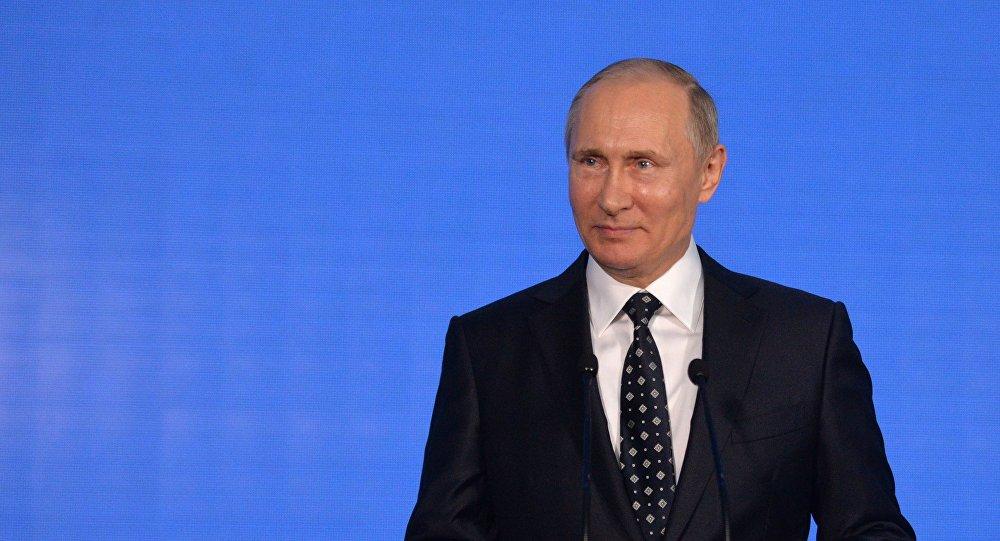 Poutine au Forum économique à Vladivostok, 2016