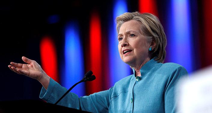 Le candidat au poste présidentiel américain Hillary Clinton