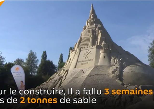 Un château de sable en Allemagne
