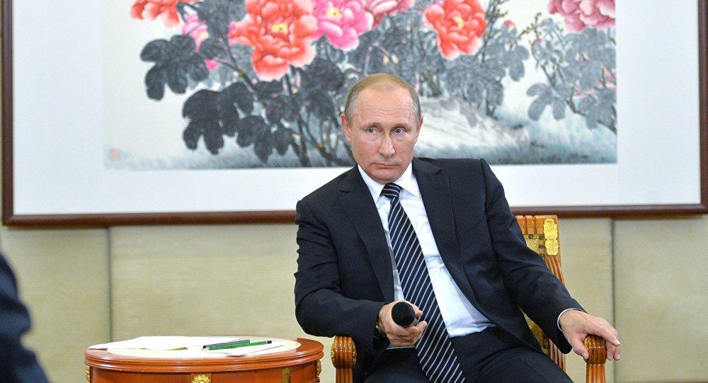 Vladimir Poutine au sommet du G20 en Chine