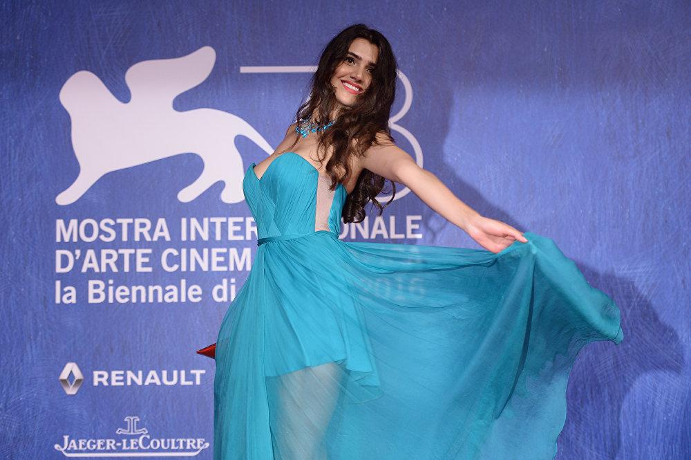 Loredana Violeta Salanta arrives for the premiere of In Dubious Battle