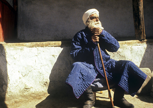 Un habitant du village tadjik de Iamg, 117 ans