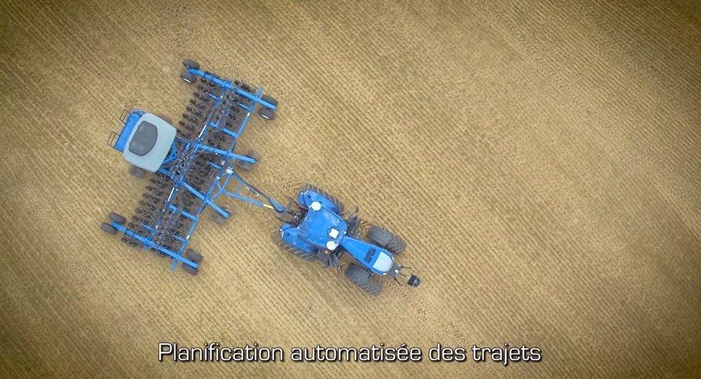 un tracteur autonome