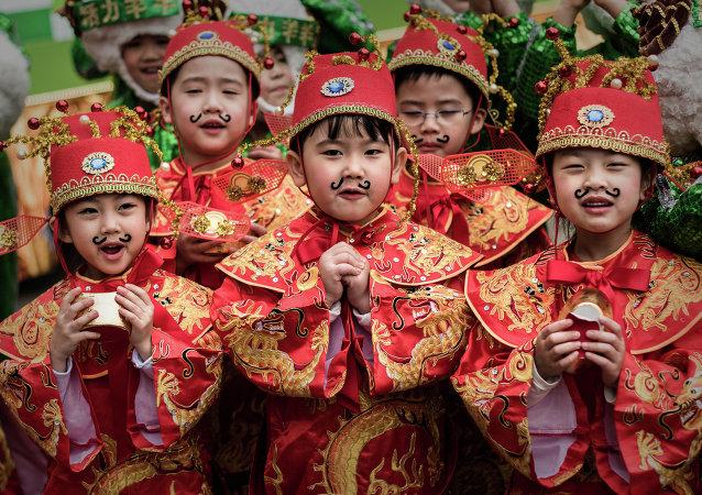 Des enfants chinois