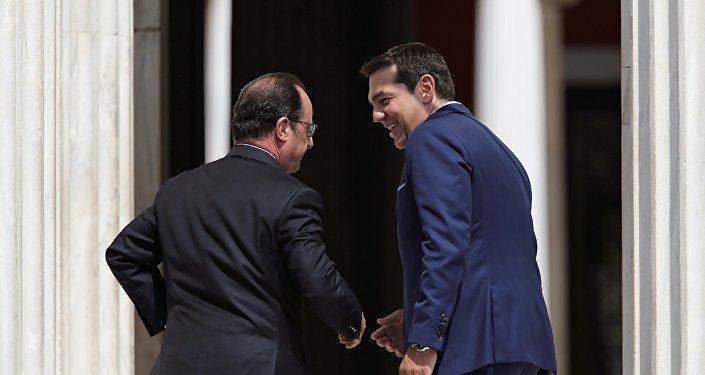 Alexis Tsipras et François Hollande à Athènes