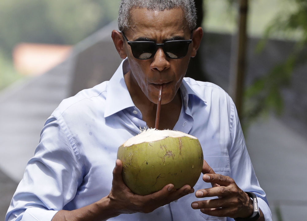Le président américain Barack Obama lors de sa visite au Laos