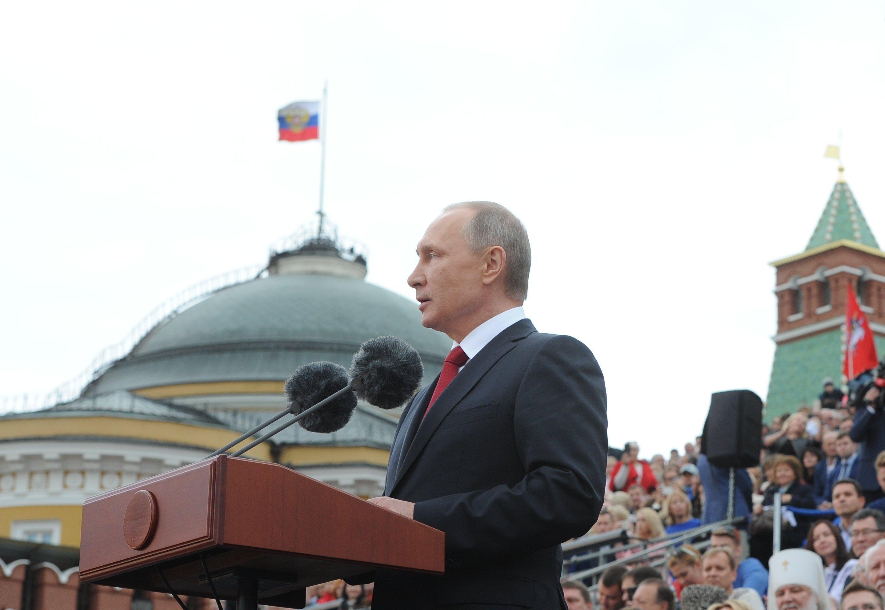 Vladimir Poutine s'adresse aux Moscovites