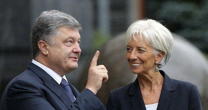 Piotr Porochenko et Christine Lagarde