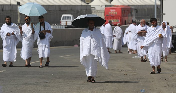 Des pèlerins en Arabie saoudite. Image d'illustration