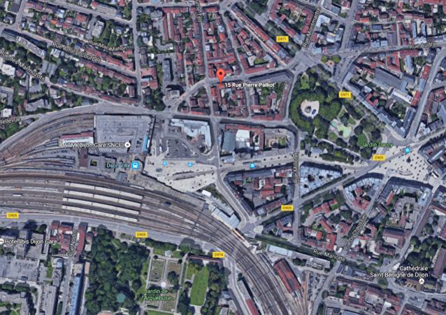 Une explosion dans un bâtiment près de la gare à Dijon