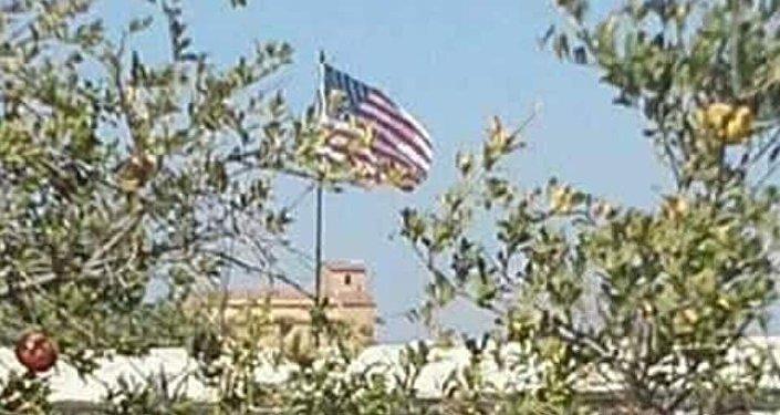 Drapeau US à Tel Abyad