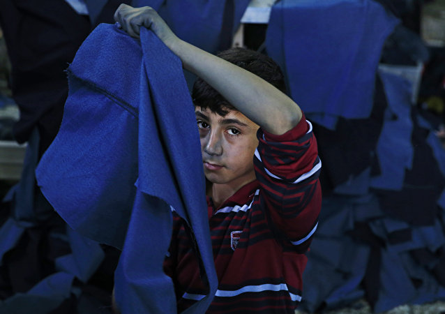 Un garçon réfugié