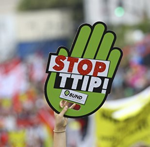 Manifestants contre le TTIP. Archive photo
