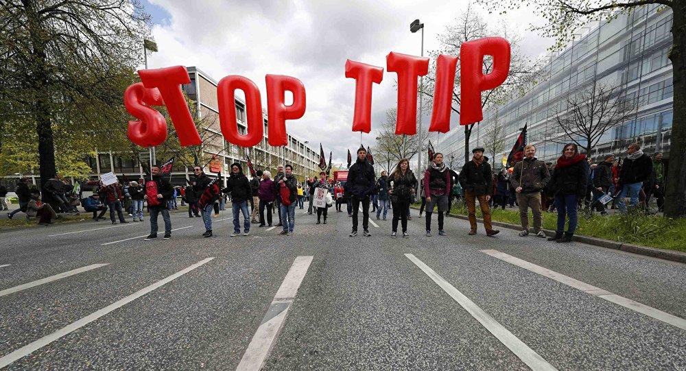 «Stop TTIP»: les manifestants expliquent pourquoi ils se mobilisent