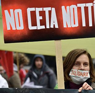 manifestation contre CETA et TTIP