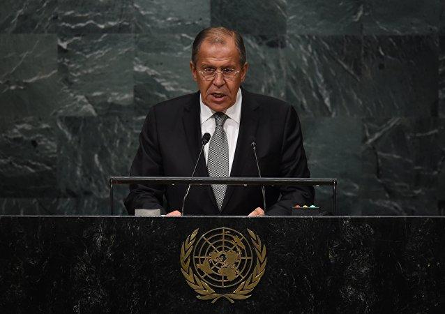 Le chef de la diplomatie russe Sergueï Lavrov, la 71e session de l'Assemblée générale de l'Onu