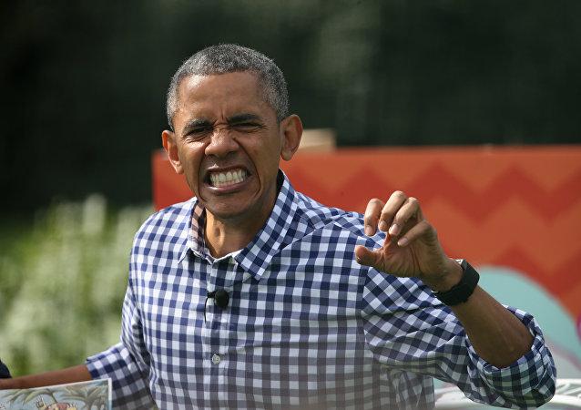 Barack Obama und Michelle feiern Ostern 2016 mit Kindern am Weißen Haus