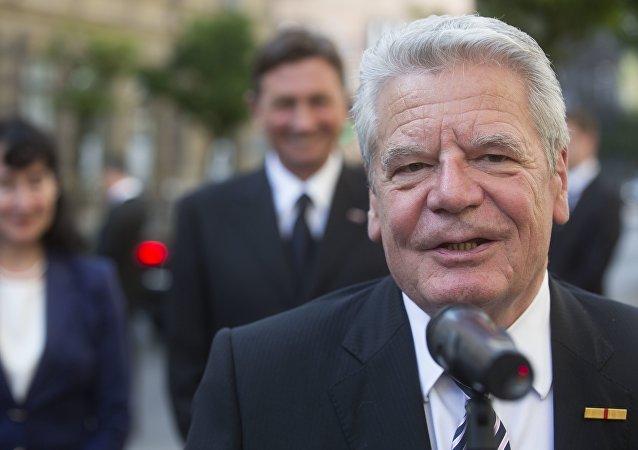 Le président allemand Joachim Gauck