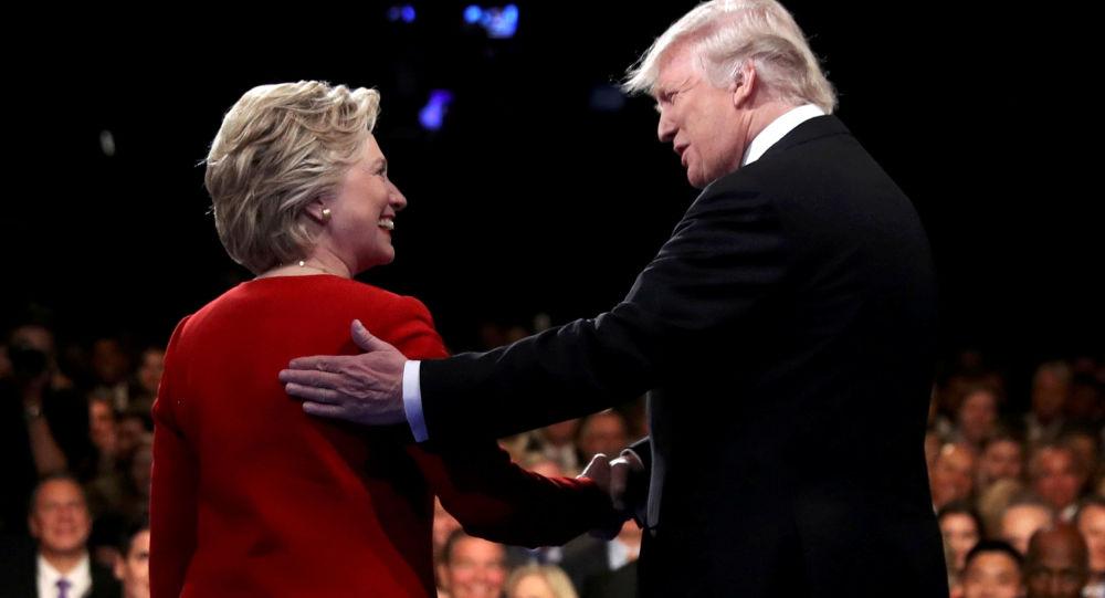 Les candidats à la présidence américaine Hillary Clinton et Donald Trump