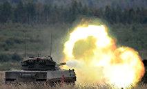 Exercice de tir d'artillerie