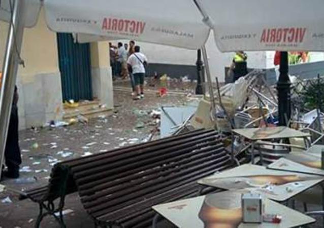 Explosion à Velez-Malaga, en Espagne