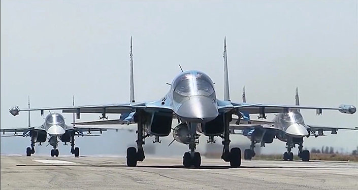 Des bombarders russes à l a base de Hmeimim en Syrie