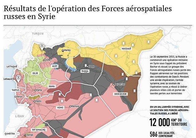 Résultats de l'opération des Forces aérospatiales russes en Syrie