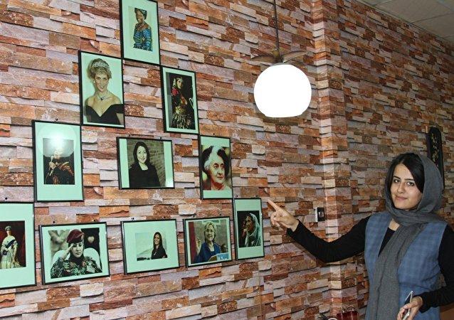 L'intérieur du café Barana à Kaboul