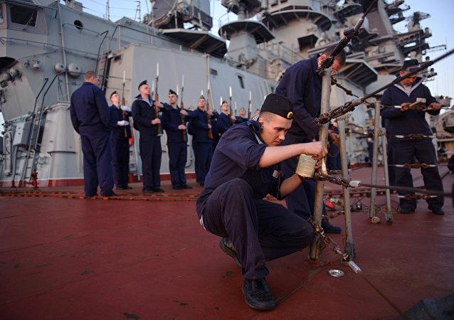 Le croiseur russe Piotr Veliki à Tartous