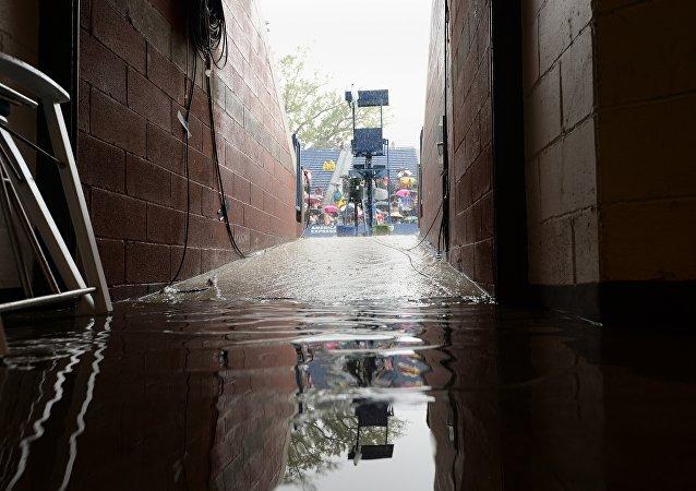Inondation à New York. Archive photo