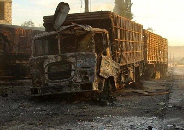 Un camion du convoi humanitaire de l'Onu attaqué en Syrie
