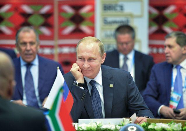Poutine lors du sommet des BRICS à Oufa