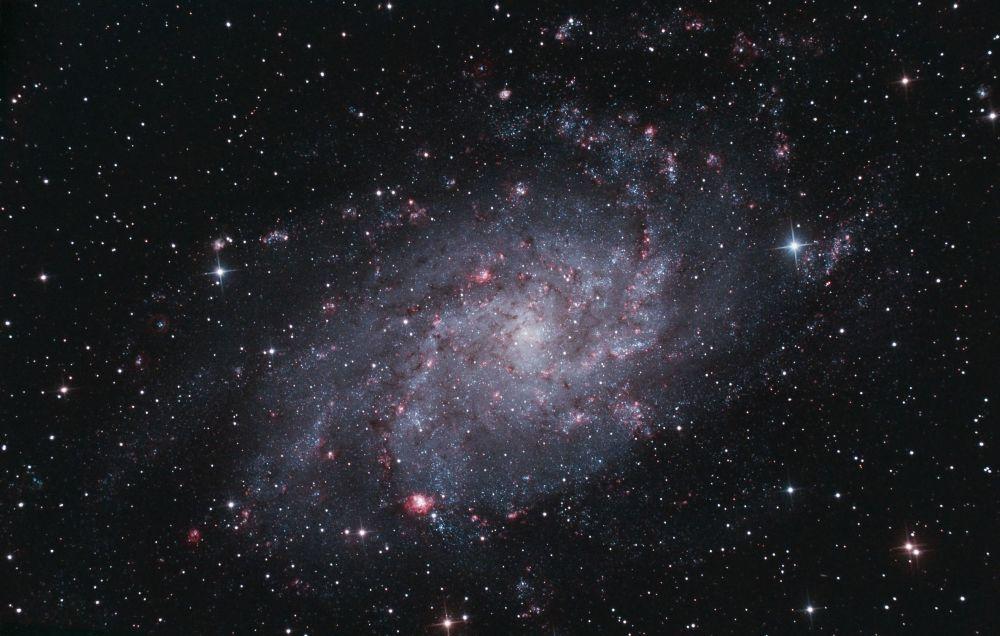 La galaxie du Triangle peut être observée à l'œil nu par une nuit sans lune