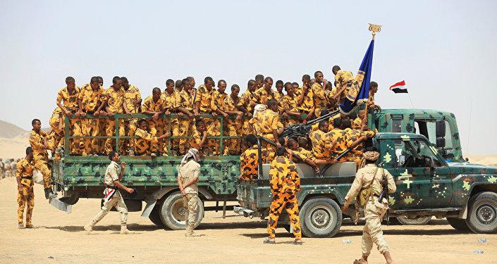 Soldats des troupes gouvernementales yéménites