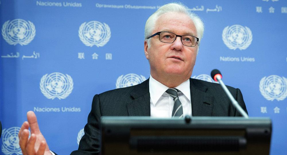 Vitali Tchourkine, ambassadeur permanent  de Russie auprès de l'Onu