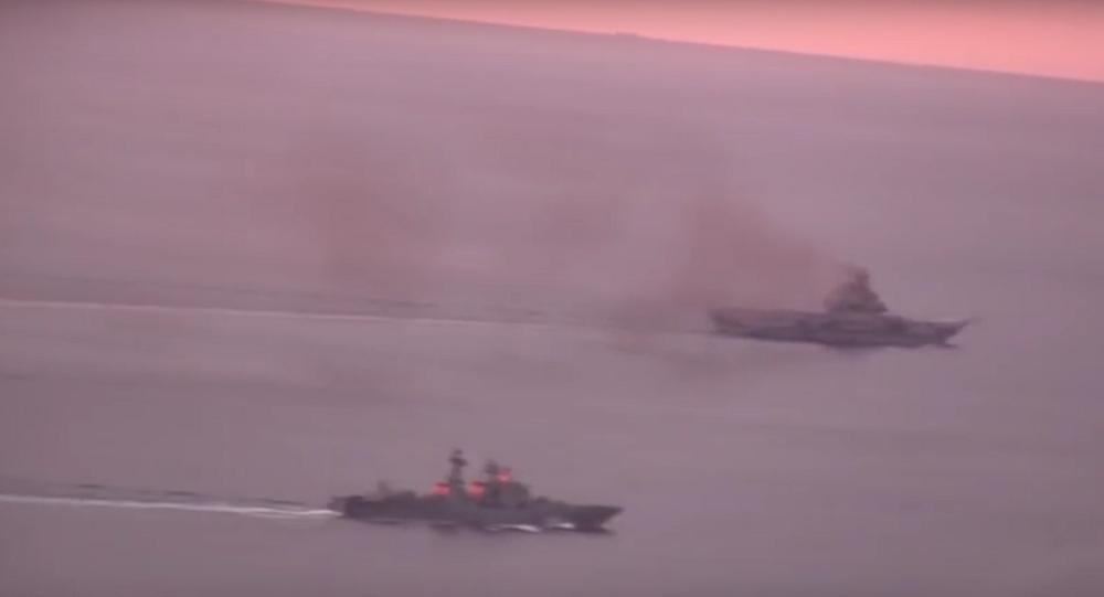 Un groupe de navires russes dans La Manche