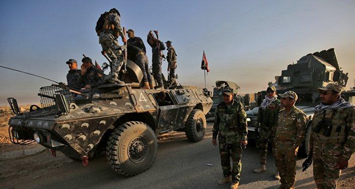 Les forces irakiennes à l'approche de Mossoul