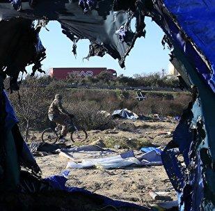La «jungle» de Calais. Archive photo