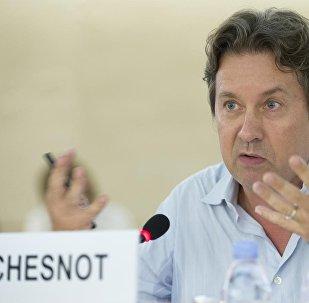 Christian Chesnot, journaliste français, spécialiste du Moyen-Orient