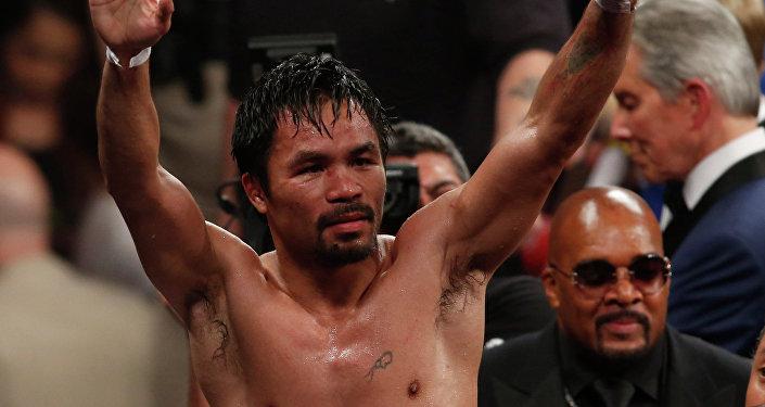 Le célèbre boxeur Manny Pacquiao offre sa fortune aux déshérités