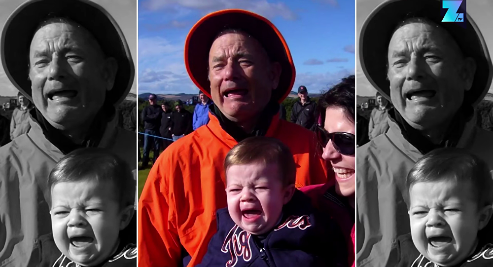 Tom Hanks qui fait feinte d'être Bill Murray